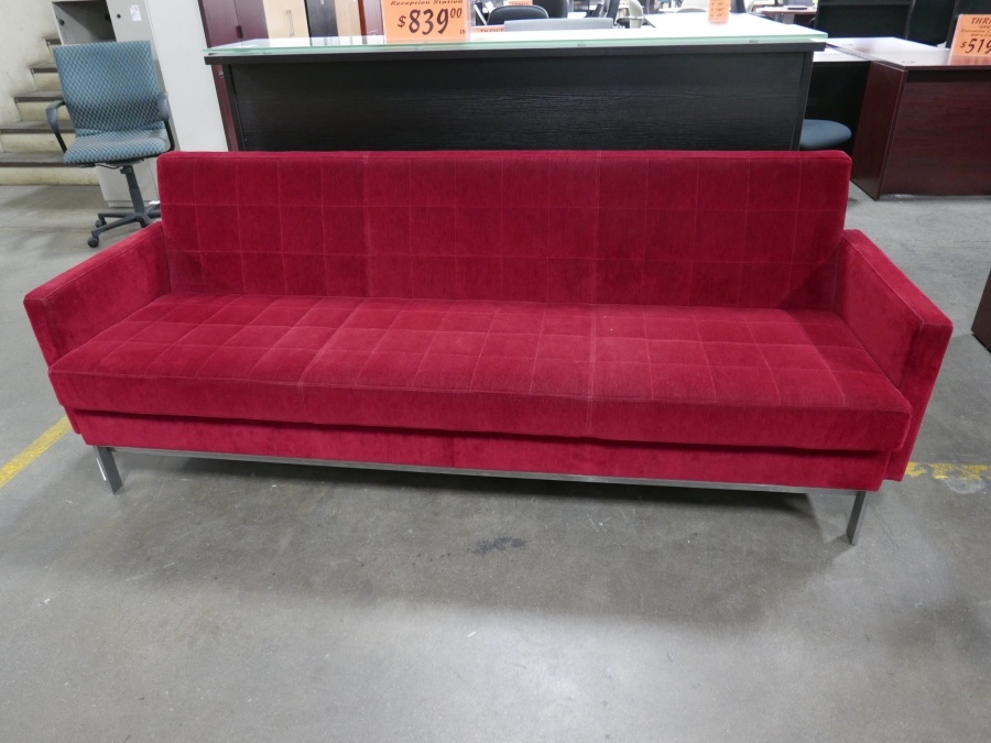 f39539daa25 Cherry Red Mohair Sofa by Steelcase Coalesse - TR Trading Company